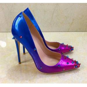 DHgate women lady woman 2019s fashion spikes patent leather poined toes wedding heels stiletto high heels shoes pumps 12cm 120mm