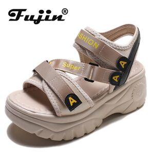 DHgate fujin 2020 platform sandals women summer shoes buckle slides casual sandals women's sports shoes summer sandalia mujer 2020