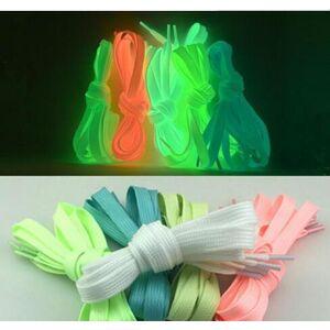 DHgate shoelace t men women shoe laces glow in the dark fluorescent shoeslace for sneakers canvas shoes