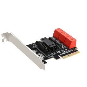 DHgate 6 ports sata 3.0 to pcie expansion card pci express 4x gen 3 pci express sata adapter sata 3 converter heat sink