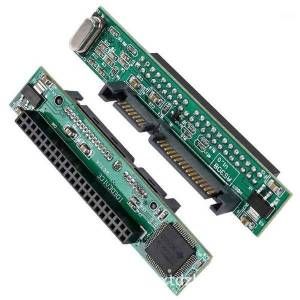 "DHgate lap2.5"" hard drive 44pin ide female to 7+15pin 22pin sata male adapter converter1"
