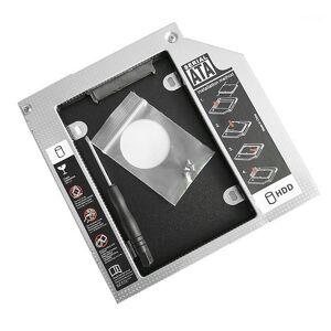 DHgate 1pcs 12.7/9.5mm/9mm aluminum hard disk drive bay universal ssd hd sata hard disk drive hdd caddy adapter bay for cd dvd1