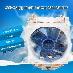 DHgate fans & coolings 4 copper cooling fan tower cpu heatsink radiator heat-pipes 3 pin system office caring computer supplies