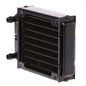 DHgate 80mm water cooler aluminum vga gpu accessories tube liquid exchanger industrial cpu cooling black computer radiator heatsink11