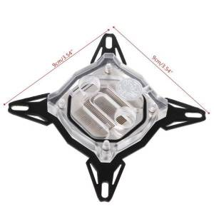 """DHgate fans & coolings y8ac g1/4"""" base inner channel pc water cooling block for intel 775/1150/1155/1156 cpu"""