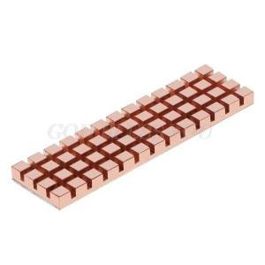 DHgate pure copper heatsink cooler heat sink thermal conductive adhesive for m.2 2280 pci-e nvme ssd 70x20mm thickness 1.5/2/3/4mm fans & coolings