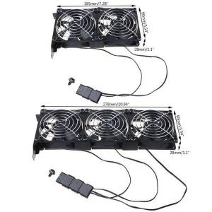 DHgate fans & coolings universal deskcomputer vga cooler partner ultra quiet chassis pci coolingfan m2ec