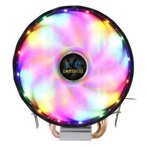 DHgate fans & coolings rgb led cpu cooler fan 2 heatpipe 12v 120mm cooling heat sink radiator for intel lag 1150 1155 1156 775 1366 amd