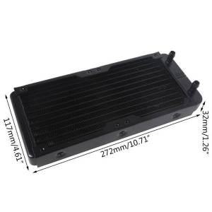 DHgate fans & coolings 240mm 10 tube computer water cooling radiator g1/4 female thread heat dissipation for pc cpu cool system