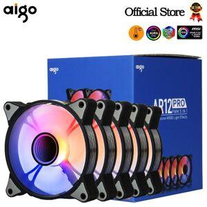 DHgate fans & coolings aigo ar12pro computer case fan ventoinha pc 120mm rgb 4pin pwm cooling 3pin5v unlimited space argb 12cm ventilador