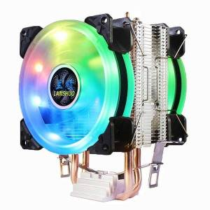 DHgate fans & coolings led cpu cooler pc cooling 9cm fan radiator for lga 775 1150 1151 1155 1156 1200 1356 1366 x79 x99 amd am3 am4