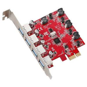 DHgate hubs computer accessories 4 ports usb 3.0 pci e card adapter converter for window xp/vista/7/8/8.1/10 high speed transmission