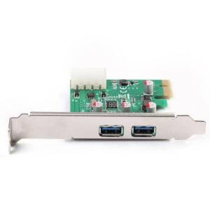 DHgate hubs pci-e express 5gbps hi-speed 2-port usb 3.0 front panel controller card 4 pin ide power adapter
