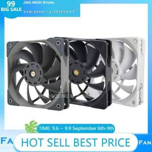 DHgate fans & coolings thermalright pc computer mod case 120mm 25mm thick quiet pwm cooling fan cpu cooler temperature control,no light,tl-c12pro