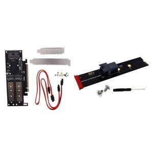 DHgate lapcooling pads m.2 nvme ngff to pci-e 4x 3 in 1 adapter card b+m key msata with mini-sas hd 36-pin m
