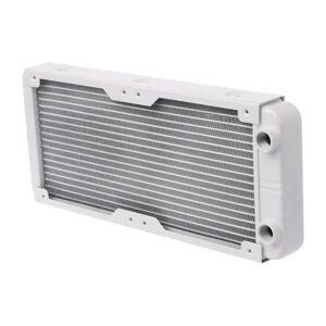 DHgate lapcooling pads 240mm aluminum computer radiator water cooler 18 tube cpu heat sink exchanger drop