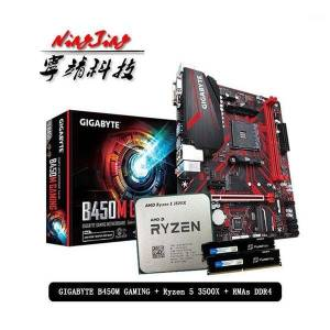 DHgate amd ryzen 5 3500x r5 3500x cpu +gigabyte ga b450m gaming motherboard + pumeitou ddr4 2666mhz rams suit socket am4 without cooler1