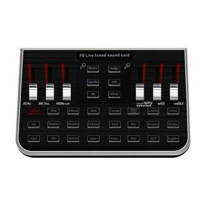 DHgate sound cards 1 set f8 live card english version 6 modes voice mixer microphone webcast