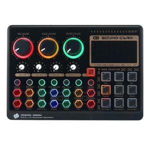 DHgate sound cards x6mini external live card multifunctional mixer board for streaming music recording karaoke singing