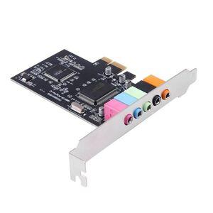 DHgate sound cards 5.1ch 5.1 channel cmi8738 chipset audio interface pci-e stereo digital card desksoundcard