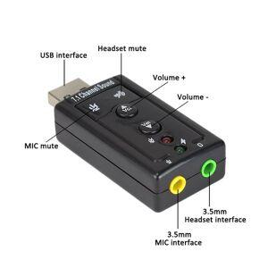 DHgate external usb 2.0 sound card 7.1 channel 3d sound card adapter virtual audio sound external adapter 7.1 channel 100pcs/lot