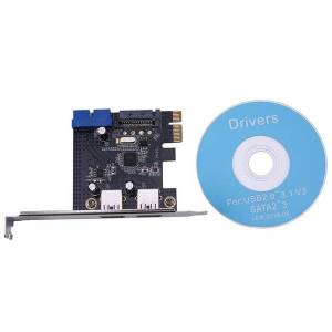 DHgate keyboard mouse combos pci-e to 2 port usb 3.0 pci expansion card 19-pin/20-pin external pcie adapter support 1x 4x 16x