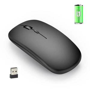 DHgate m80 2.4g wireless charging mouse 10m/33ft rechargeable computer mouse ultra-thin silent mute mice for home office notebook