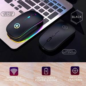 DHgate new wireless mouse rgb rechargeable mice wireless computer mause 2.4g receiver office home use mouse for desklappc