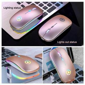 DHgate mice rechargeable mouse wireless silent led backlit usb computer gaming pc optical ergonomic for lapto s6p7