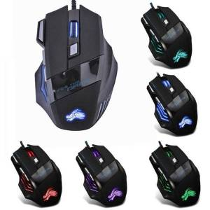 DHgate mice led optical usb wired gaming mouse 7 buttons computer for lapdeskpc slim cute