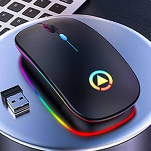 DHgate mice 2.4ghz wireless office mouse computer gamer silent pc mause rechargeable ergonomic led mute gaming for laptop