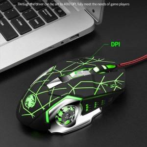 DHgate mice u2je professional wired gaming mouse 4000dpi mute computer mechanical with rgb led backlight for desklappc