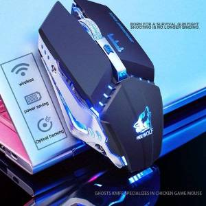 DHgate mice 2.4ghz wireless mute rechargeable mouse led backlit 1600dpi mechanical silent for cs