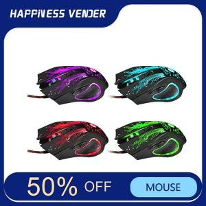 DHgate mice wired usb mouse gaming office internet cafe mouse1.5m weaving line colorful glare led automatically change the color