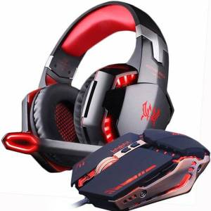 DHgate mice s gaming mouse and headset deep bass stereo earphones with microphone wired 3200 dpi combination led lights