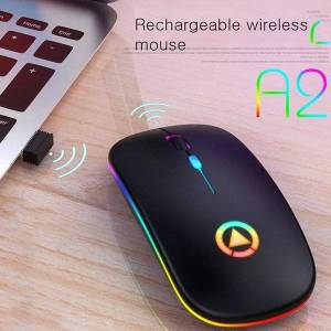 DHgate mice ergonomic 2.4ghz rechargeable silent wireless mouse with led optical backlit usb gaming for pc lapcomputer