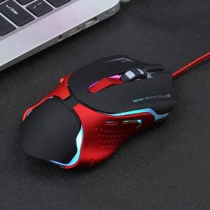 DHgate mice 5500dpi led backlit mouse professional gaming with 7 bright colors ergonomics design 7/6 buttons for lappc gamer