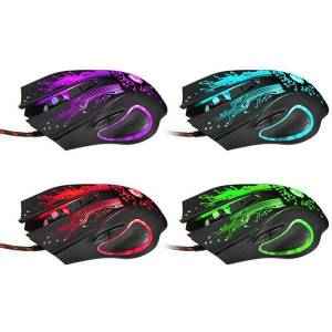 DHgate mice fast ship 3200dpi led lights 6 keys usb wired gaming mouse optical for pc game players lovers