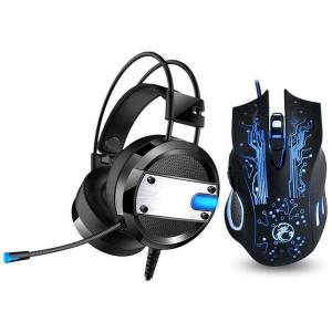DHgate mice pc cool led backlight gaming headphones deep bass comfortable computer game headset+6 button 5000dpi pro mouse