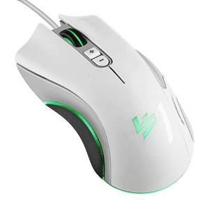 DHgate mice 5d 4000 dpi 5v 100ma 4 buttons led usb wired optical gaming mouse white orange computer accessories