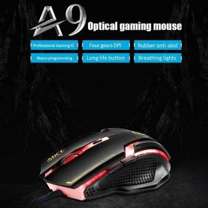 DHgate mice a9 gaming mouse 3200dpi adjustable silent optical led usb wired computer notebook game for gamer home office