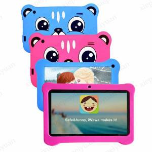 DHgate 2020 7 inch q08 capacitive allwinner a50 quad core android 9.0 dual camera kid tablet pc real 1gb ram and 16gb rom wifi epad