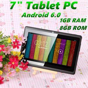 DHgate 7 inch a33 quad core tablet pc q8 allwinner android 6.0 capacitive 1.5ghz 1gb ram 8gb rom wifi bluetooth dual camera flashlight q88 mq12
