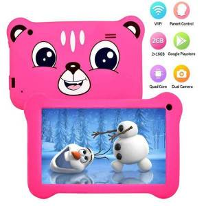DHgate children tablets 7 inch capacitive allwinner a50 quad core android 9.0 dual camera kids tablet pad real 2gb ram 16gb rom