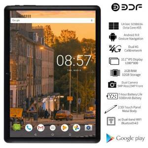 DHgate tablet pc bdf 2021 10 inch android 9.0 octa core 2gb/32gb 4g lte phone call gps google play 1280*800 ips tablets 10.1