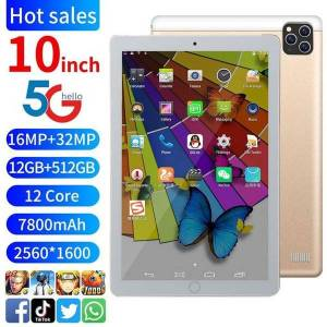 DHgate 10-inch intelligent tablet computer ultra-thin large screen high-definition android full netcom dual-card game student learning machine