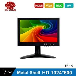 DHgate 7 inch hd cctv tft-led screen with metal shell & hdmi vga av bnc connector for pc multimedia monitor display microscope etc application