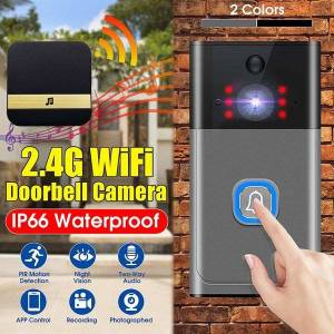 DHgate pir motion detection home security wireless wifi visual doorbell camera two-way intercom night vision doorbell with indoor chime