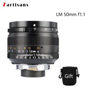 DHgate 7 artisans 50mm f1.1large aperture paraxial m-mount lens for leica cameras m-m m240 m3 m5 m6 m7 m8 m9 m9p m10 ing