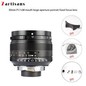 DHgate lentes 7 artisans 50mm f1.1large aperture paraxial m-mount lens for cameras m-m m240 m3 m5 m6 m7 m8 m9 m9p m10 ing